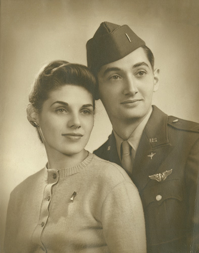 Howard Zinn and Roselyn Shechter married in October 1944, just before Howard was shipped out to England to fight in WWII.