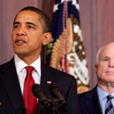 President Barack Obama and Senator John McCain • By Pete Souza • WikiCommons