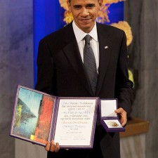 President Obama with Nobel Prize • Photo by Pete Souza • WikiCommons