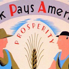 """Work Pays America! Prosperity."" • Poster by Vera Bock • Library of Congress"