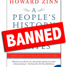 Banned Book Cover: A People's History of the United States